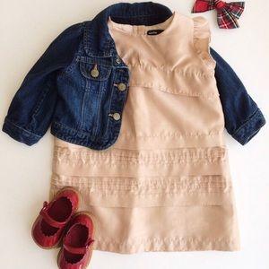 baby Gap gold shine dress